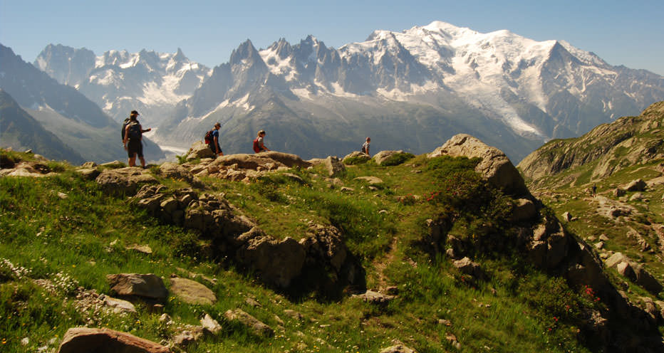 Trails on the Tour Du Mont Blanc